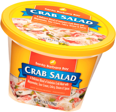 Santa Barbara Bay crab salad container by Tech 2