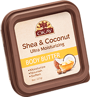 Shea & Coconut body butter container by Tech 2
